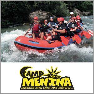 {[sl]:Adrenalinski spust po Savinji, Camp Menina, Rečica ob Savinji (Vrednostni bon, izvajalec storit