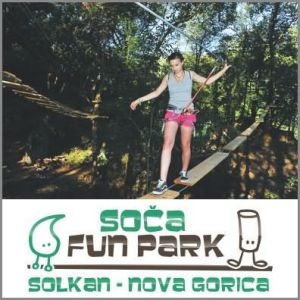 Vstopnica za obisk pustolovskega parka, Soča fun park, Solkan (Vrednostni bon, izvajalec storitev Robert Krkoč s.p.)