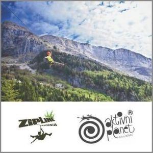 Adrenalinska vožnja Zipline, Aktivni planet Bovec (Vrednostni bon, izvajalec storitev Adrenalin Park Bovec d.o.o.)