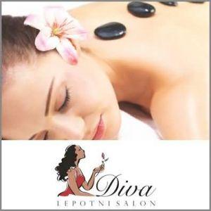 Antistresna masaža ali masaža hrbta z vročimi kamni, Lepotni salon Diva, Slivnica pri MB (Vrednostni bon, izvajalec storitev Andrea Lobenwein s.p.)
